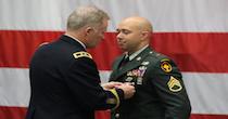 Armed Service Member Receiving Medal