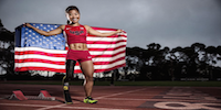 Paralympian With US Flag