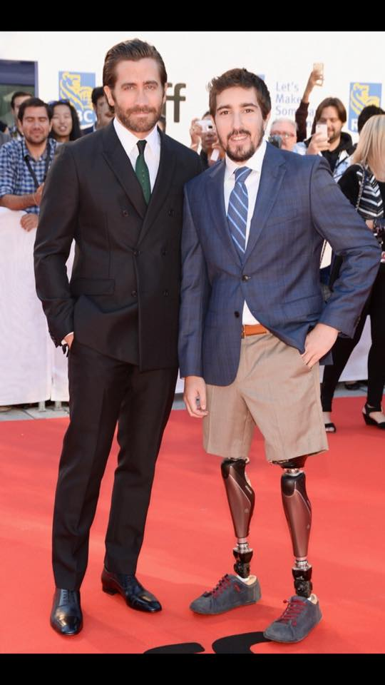 "POA client Jeff Bauman Rocking Red Carpet with Jake Gyllenhaal, star of ""Stronger"""