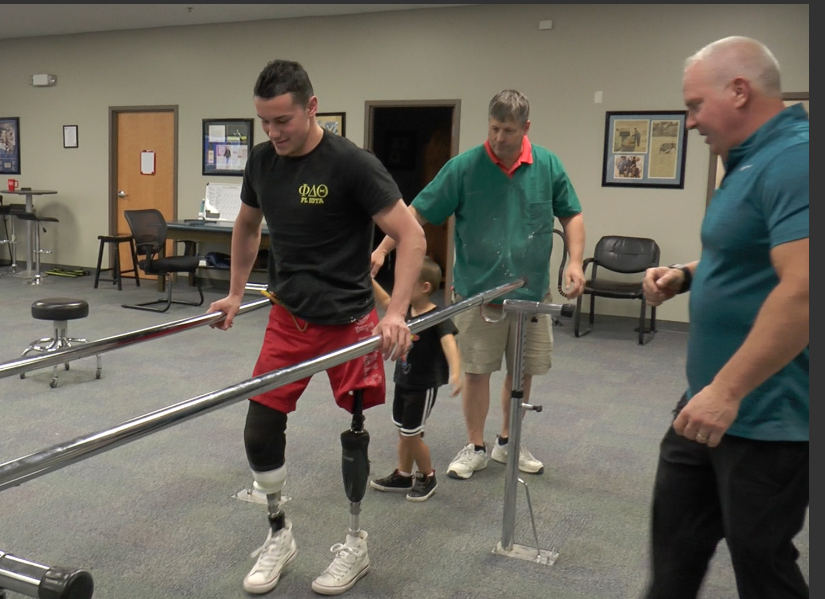 Radley Gillis' Takes First Steps on Prosthetic Legs
