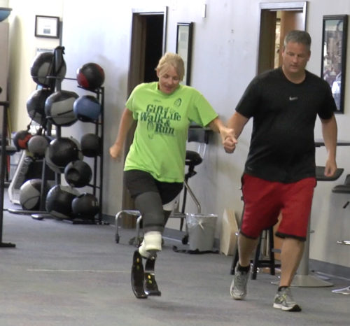 Bilateral Amputee Runs with Husband for First Time Since Losing Her Legs