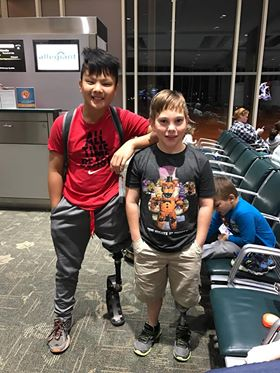 Small World:  Two POA kids meet at Knoxville Airport