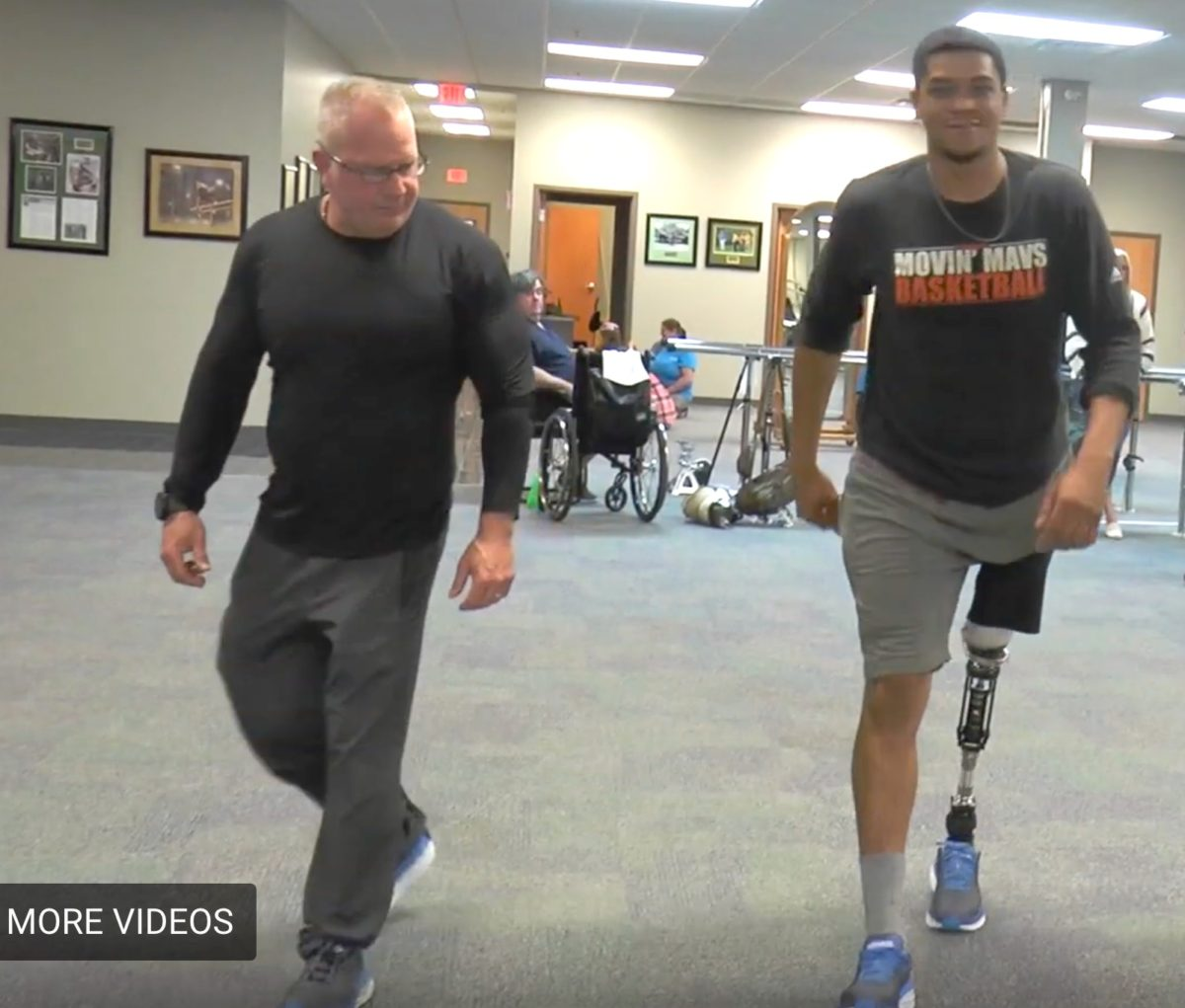 Kris, 25 year old PFFD Amputee, Takes First Steps – Ever – on Prosthetic Leg!