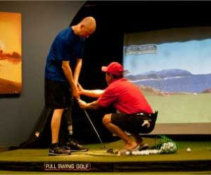 Man Learning How To Golf With Prosthetic Leg